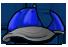 Blue and Grey Baseball Cap