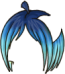 Apple Wig Blue