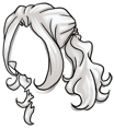 Curly White Wig
