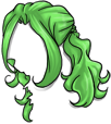 Curly Green Wig