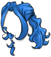 Curly Blue Wig