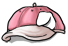Pink and White Baseball Cap