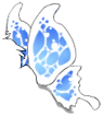 White/Blue Butterfly Wings
