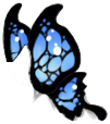 Black/Blue Butterfly Wings