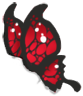 Black/Red Butterfly Wings