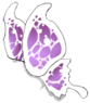 White/Purple Butterfly Wings