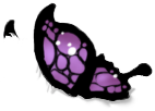 Black/Purple Butterfly Wings