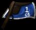 Blue/White Saddle