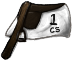 White Racing Saddle