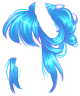 Electric Blue Messy Bun Wig