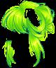 Electric Green Messy Bun Wig