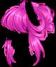 Electric Pink Messy Bun Wig