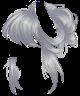 Gray Messy Bun Wig