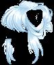 Pastel Blue Messy Bun Wig