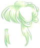 Pastel Green Messy Bun Wig