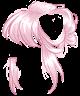 Pastel Pink Messy Bun Wig