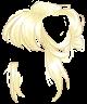 Pastel Yellow Messy Bun Wig