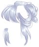 Silver Messy Bun Wig