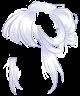 White Messy Bun Wig
